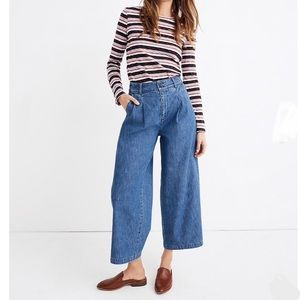 Madewell Pleated Wide-Leg Jeans sz 8